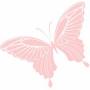 rosa-Schmetterling